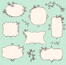 Hand drawn frames background is a seamless pattern.