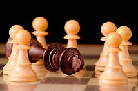 The fall of a tyranny simbolized with chess pieces