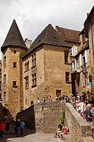 Medieval village of Sarlat France.