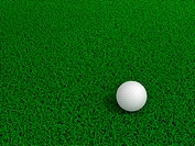 Beautiful golf ball on green grass