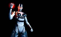 3d render of cyborg character