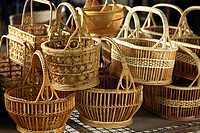 Basket wicker is Thai handmade at Suphanburi near bangkok, Thailand.