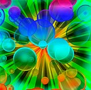 colorful bubble explosion _ more similar available
