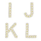 Letters made of tropical flowers frangipani plumeria isolated ijkl