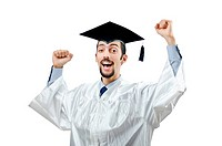 Young male student graduate