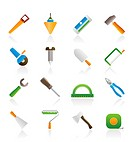 Construction and Building Tools icons _ Vector Icon Set