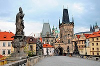 walk over the Charles Bridge in Prague, Czech Republic