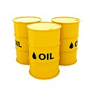 3d render of yellow oil barrels isolated on white background
