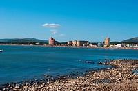Panoramic view of Piriapolis . Uruguay, South America.