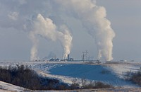 Pollution Industry fertilizer Plant Saskatchewan Canada Winter