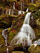 Waterfall in the place of a thousand drips near Gatlinburg in Smoky Mountains