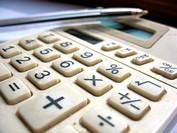 There are plastic pen and calculator. Macro