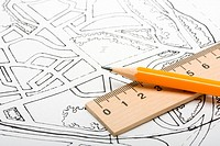 Architectural plan and drawing tools.
