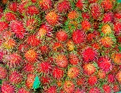 Bunch of rambutan on thai market