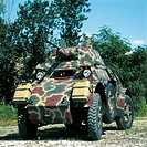 Military Vehicles - Italy, 20th century. AB 43 armoured car, year 1944.