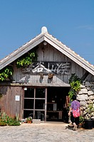 Yomitan, Okinawa, Japan: a pottery atelier, specialized in Yachimun ceramics, in Zakimi village