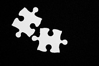 White Blank Puzzle, business concept of Solution