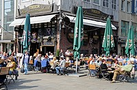 pavement cafe, old market square, Dortmund, North Rhine_Westphalia, Germany, Europe, Strassencafe, alter Markt, Dortmund, Nordrhein_Westfalen, Deutsch...