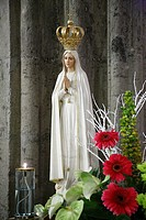 Image of Our Lady of Fatima. Azores islands, Portugal