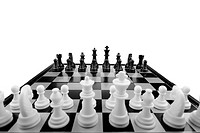Chess. Desktop logic game. Perspective view