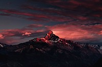 Machapuchare Machhapuchhre Fish Tail mountain, in the Annapurna Himal of north central Nepal, Nepal, Himalayas, Asia