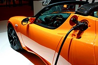 Hybrid electric vehicle Tesla car with electric pump