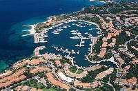Aerial view of Porto Rotondo - Costa Smeralda, Province of Olbia-Tempio, Sardinia Region, Italy