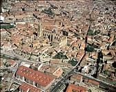 Aerial view of Salamanca with Cathedral and old town (UNESCO World Heritage List, 1988) - Castilla y Leon, Spain