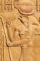 Bas relief, Temple of Sobek and Haroeris, Kom Ombo, Egypt, North Africa, Africa