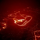 United States of America - State of Hawaii - Hawaii Volcanoes National Park (UNESCO World Heritage List, 1987). Kilauea Volcano. Extinct crater with t...