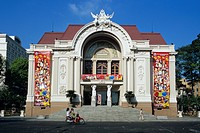 Municipal Theatre, French colonial architecture, Ho Chi Minh City Saigon, Vietnam, Indochina, Southeast Asia, Asia