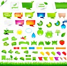 Eco Collection Design Elements, Isolated On White Background, Vector Illustration With Gradient Mesh