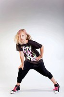 Cool young girl posing