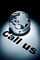 globe, concept of Call us