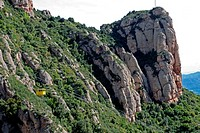 cableway, mountain of Montserrat, Natural Park, Montserrat, Catalonia, Spain