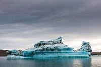 Iceberg in Jokulsarlon glacial lagoon, Iceland