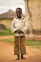 An African boy in Kidepo Valley National Park in northern Uganda.