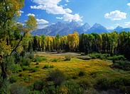 USA, Wyoming, the Grand Tetons in autumn                                                                                                              ...