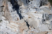 Europe, Italy, Tuscany, Apuan Alps, Gioia marble quarry, Colonnata  basin                                                                             ...