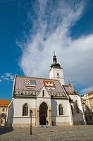 Crkva svetog Marka the St Mark's Church at Markov trg square Gradec the old town Zagreb Croatia Europe