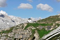 Trail 101_104, between Auronzo alpine hut, 2320m, pictures, and Lavaredoalpine hut, 2344m, lodge, Alta Pusteria, Dolomites of Sesto, South Tyrol, Ital...