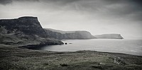 Cliffs near the Neist Point, Isle of Skye, Scotland, United Kingdom, Europe