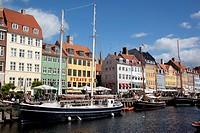 Denmark, Copenhagen, Nyhavn waterfront ...
