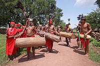 India, Chattisgarth, Bahigaon, bison horn dance                                                                                                       ...