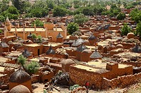 Africa, Mali, Bandiagara, Dogon town ...
