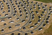Aerial view, Suerenberg building site, holiday accommodation, recreation area, Winterberg, Sauerland, North Rhine_Westphalia, Germany, Europe