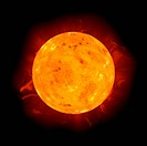 Realistic Rendering Illustration of the Sun Star