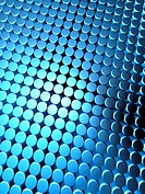 Abstract shiny dotted pattern background blue color 3d illustration
