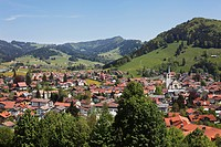 Oberstaufen, Upper Allgaeu, Allgaeu, Swabia, Bavaria, Germany, Europe, PublicGround
