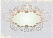 Vector illustration of titling frame on the Grunge background. Blank so you can add your own images or text